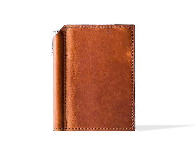 photo of horween mini leather journal with pen - natural
