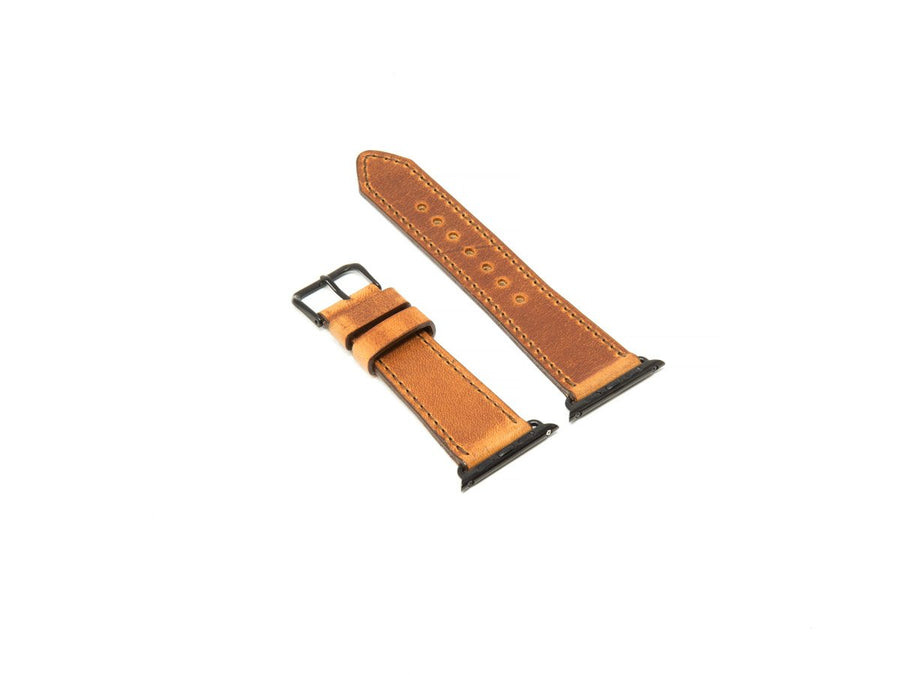photo of natural dublin leather iwatch strap