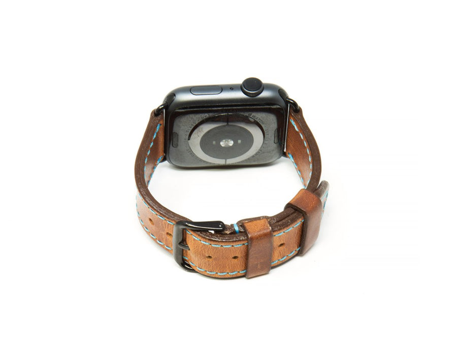 photo of horween leather apple watch band - natural