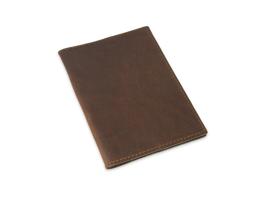 image of real leather passport cover in brown color