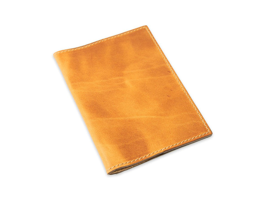 image of real leather passport cover in natural color