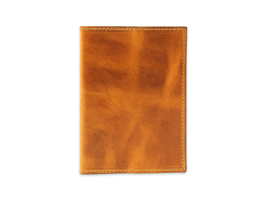 photo of horween leather passport cover - natural