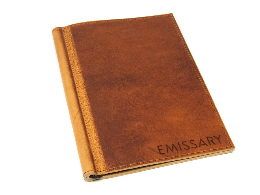Horween Leather Softcover Menu Holder - Natural - olpr.