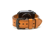 photo of italian leather apple watch band - brown