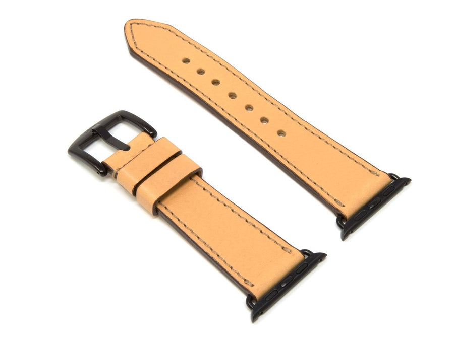 photo of cream italian leather iwatch strap