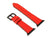 image of red italian leather apple watch strap