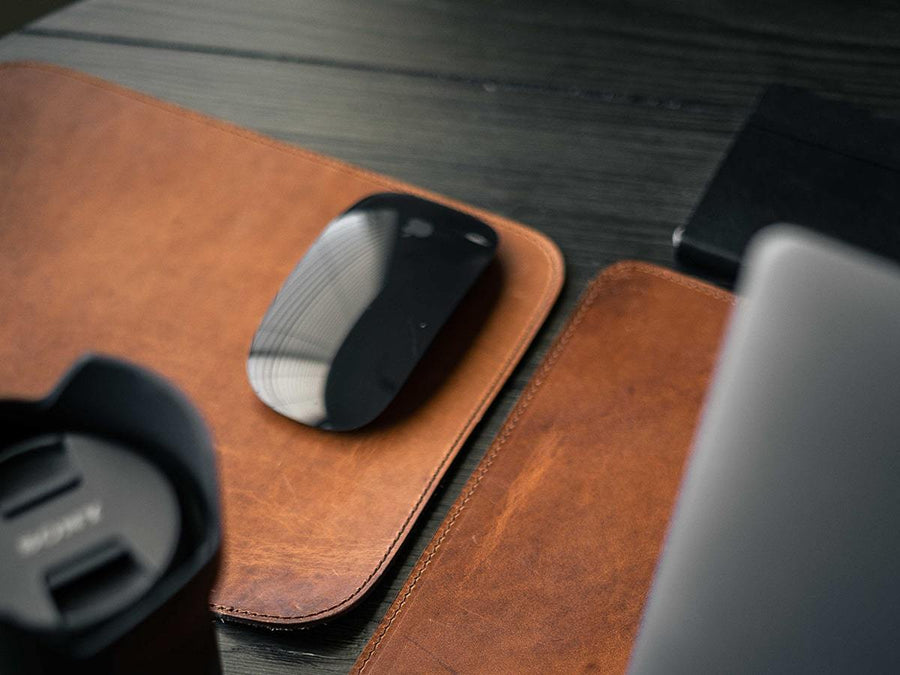 Leather Mouse Pad Horween - Natural
