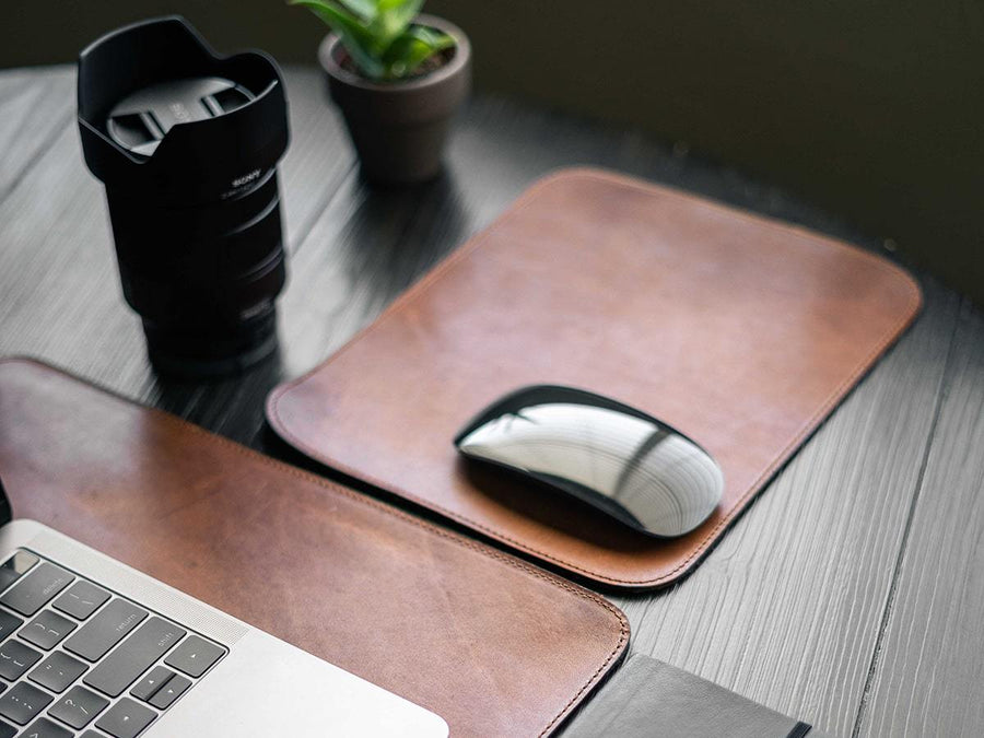 photo of horween leather mouse pad - natural