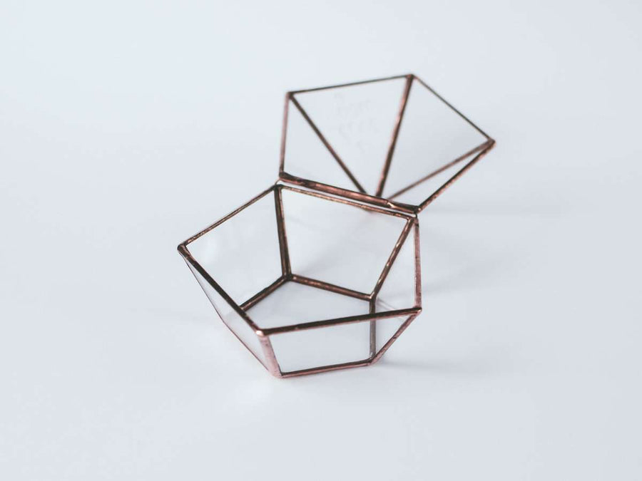 photo of chick glass geometric ring box