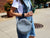 photo of soft leather circle bag - grey