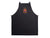 photo of black cross back apron Super dad