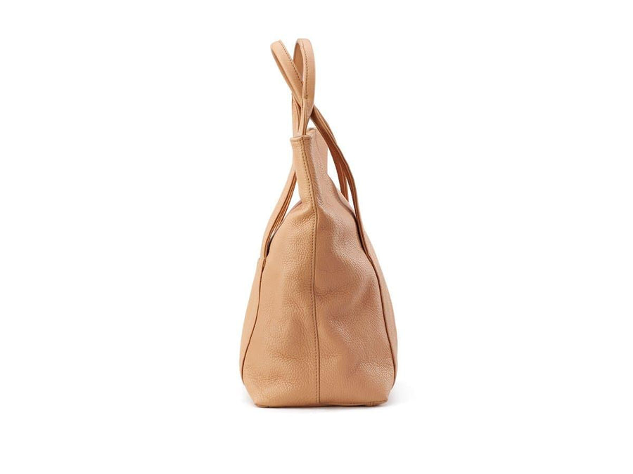 image of soft wheat leather urban tote bag