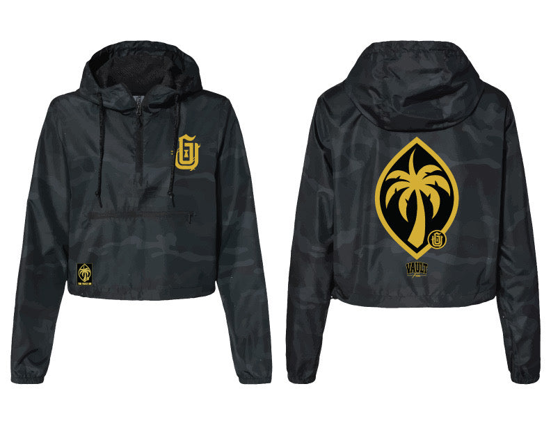 GU Logo (Gold Glitter) Crop Windbreaker PO