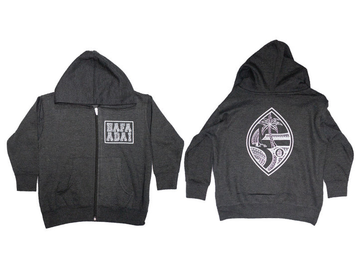 Tribal Hafa Adai Square Full Zip Hoodie (Toddler)
