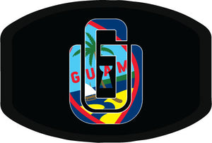 #07 GU Logo (Guam Seal) - Poly Cotton Mask
