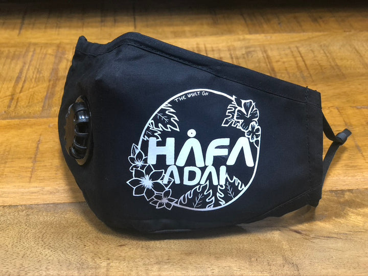 #02 Hafa Adai Circle (White) - Fashion Mask