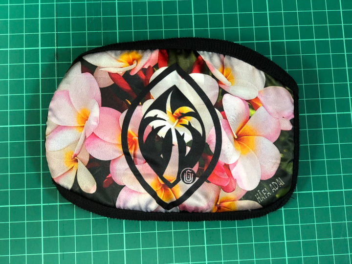 #11 Palm Seal on Plumeria - Poly Cotton Mask