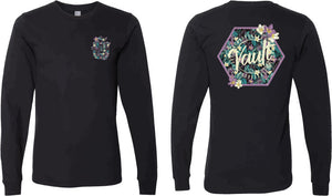 The Vault Sunburst (Floral Glitter) Long Sleeve