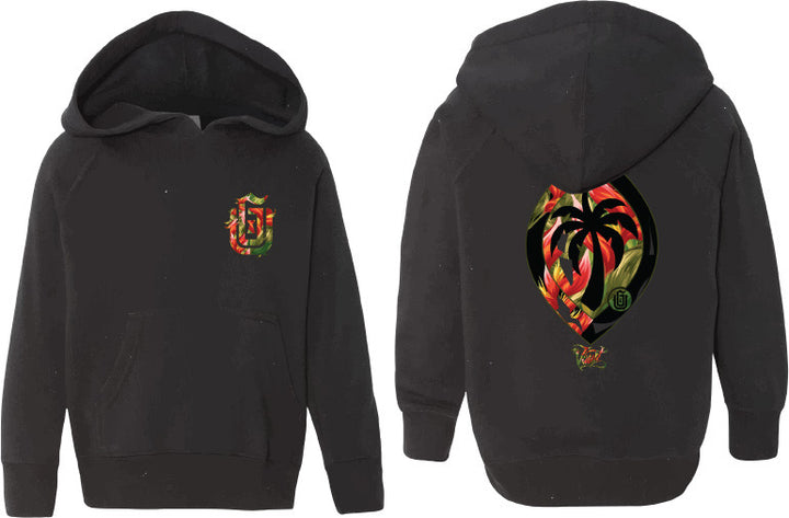 GU Logo (Bird of Paradise - Red) PO Hoodie (Toddler)