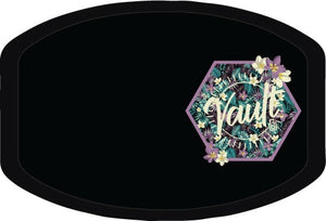#12 The Vault Sunburst (Floral Glitter) - 100% Cotton Mask