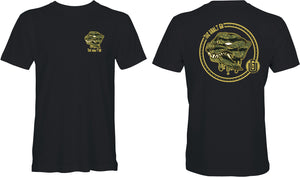 Rottweiler Tee (Black Green Gold)
