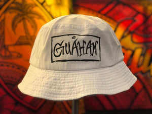 Guahan Bar Bucket Cap (White)