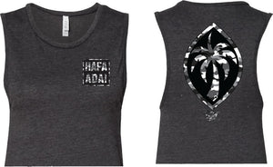 Hafa Adai Square (GBW Camo) Women's Sleeveless Crop