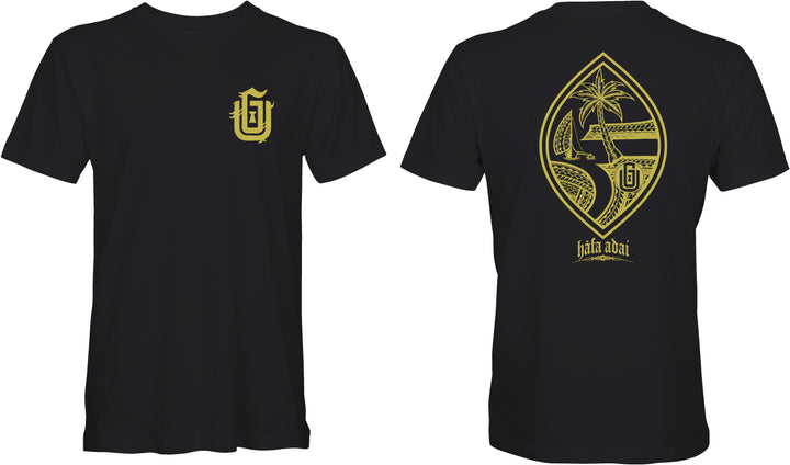 Tribal Gold Guam Seal Tee