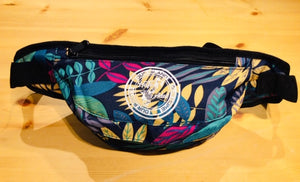Fanny Pack - Blue Floral - Our Roots Our Island Our Home