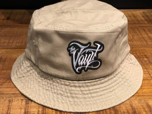 Vault Script (Embroidered Patch) Bucket Cap (Khaki)