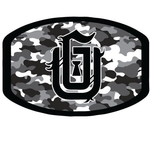 #03 GU Logo (Black) GBW Camo - Poly Cotton Mask