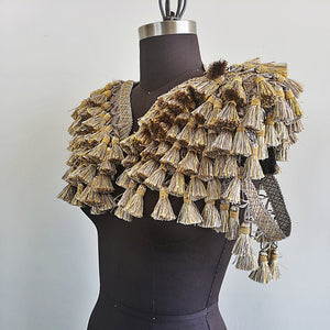 Gold and Grey Tassle Epaulette