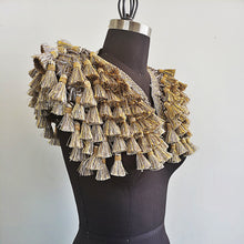 Load image into Gallery viewer, Gold and Grey Tassle Epaulette