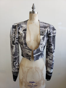 White Zombie crop jacket