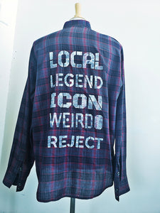 Local Legend button up