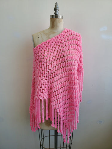 Powder pink shawl