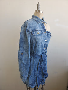 Misty Deconstructed denim dress