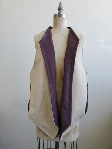 Unisex Lamb skin leather 2 tone vest