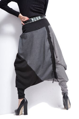 Baggy Harem Drawstring Adjustable Length Pants One size