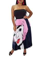 Load image into Gallery viewer, High Waist Graffiti Pleated Skirts