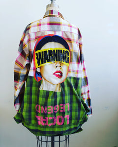 Warning Reversible flannel