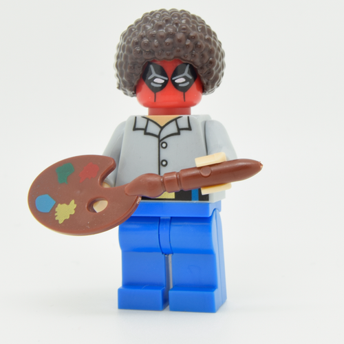 Custom Minifigure - based on the character of Bob Ross (DEADPOOL)