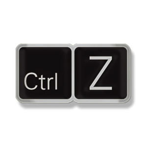 Smart Pins - Limited Edition CTRL+Z Enamel Pin Badge Brooch