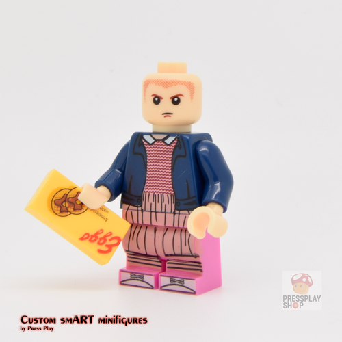 Custom Minifigure - based on the character Eleven - Stranger Things