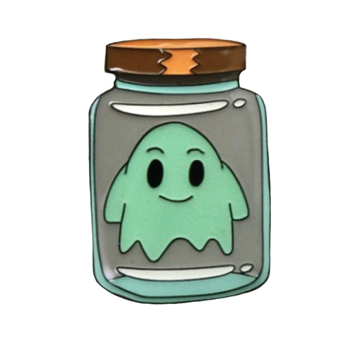 Smart Pins - Limited Edition Ghost in a Jar - Rick and Morty - Enamel Pin Badge Brooch
