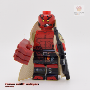 Custom Minifigure - based on the character of Hellboy