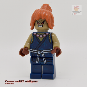Custom Minifigure - based on the character from Street Fighter of Akuma