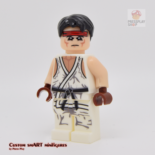 Custom Minifigure - based on the character from Street Fighter - Ryu