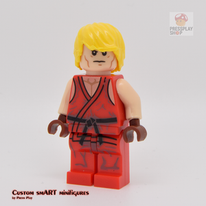 Custom Minifigure - based on the character from Street Fighter - Ken Masters