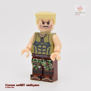 Custom Minifigure - based on the character of Street Fighter - Guile